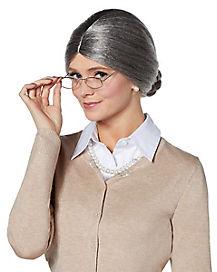 Gray Gramma Wig