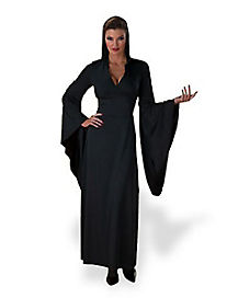 Adult Black Hooded Robe Witch Costume