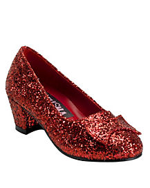Kids Red Sequin Shoes