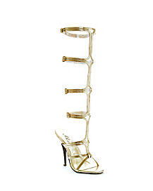 Womens Gold Gladiator Sandal