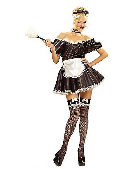 French Woman Halloween Costume Sexy French Maid Adult...