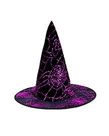 Purple Glitter Witch Child Hat