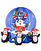 Airblown Inflatable Snowman w/ Penguins Snowglobe