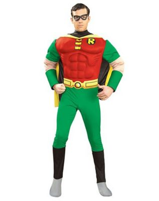 young man wearing robin outfit