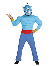 Adult Muscle Genie Costume - Aladdin