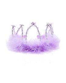 Lavender Beaded Feather Tiara