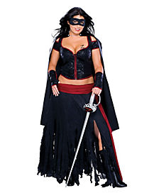 Lady Zorro Adult Womens Plus Size Costume