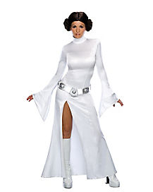 Adult White Princess Leia Dress Costume - Star Wars