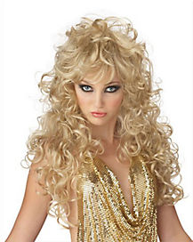 Seduction Curly Blonde Adult Wig