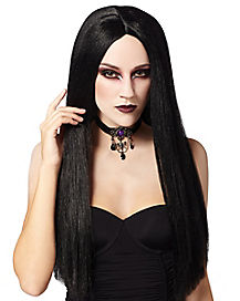 Long Adult Black Wig