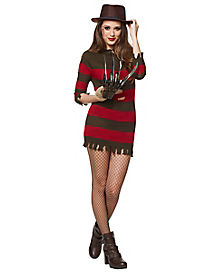 Miss Freddy Krueger Adult Womens Costume