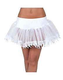 White Teardrop Petticoat