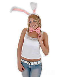 Pink and White Bunny Costume Kit