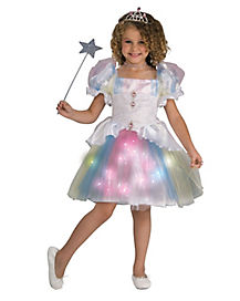 Kids Light Up Rainbow Twinkle Ballerina Costume