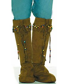 Fringed Beaded Adult Boot Tops