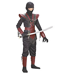 Ninja Red Leather Child Costume