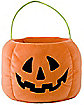 Plush Pumpkin Candy Bucket