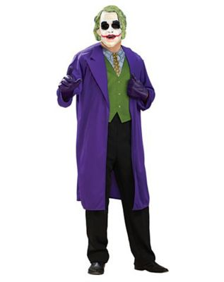 man wearing a joker dark knight costume