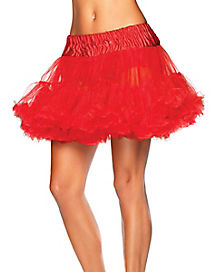 Red Plus Size Petticoat