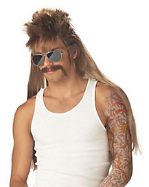 Mud Flap Mullet Wig and Mustache