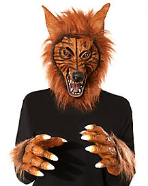 Brown Wolf Mask with Hands