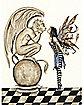 Amy Brown Gargoyle Ponytail Adult Wig