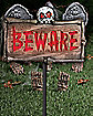 Beware Light Up Lawn Stake