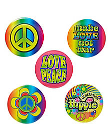 Hippie Button Set