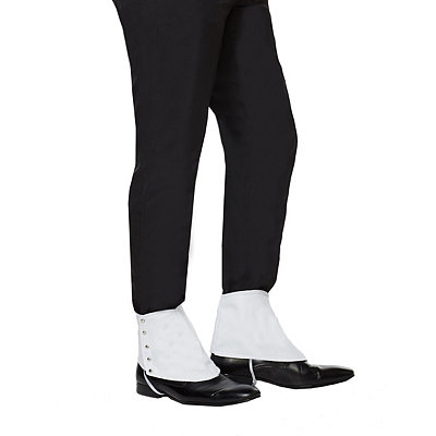 1920s Men's Costumes 20s White Gangster Spats $6.99 AT vintagedancer.com