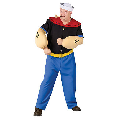 1930s Men's Costumes Adult Popeye Costume - Popeye the Sailor Man $49.99 AT vintagedancer.com