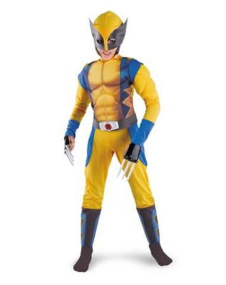 kid wearing x men wolverine outfit