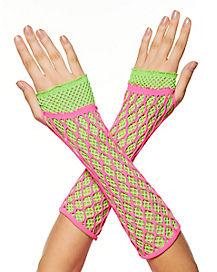 Lace Neon Glove Set