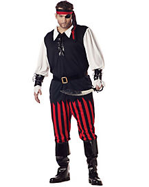 Cutthroat Pirate Adult Mens Plus Size Costume