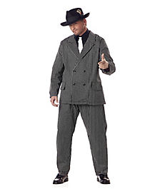 Adult Gangster Plus Size Costume