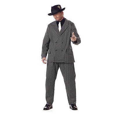 1930s Men's Costumes Adult Gangster Plus Size Costume $49.99 AT vintagedancer.com