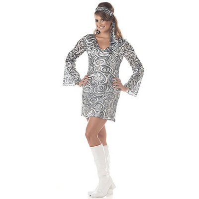 Disco Diva Adult Womens Plus Size Costume