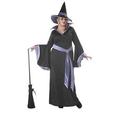 Adult Womens Plus Size Glamorous Witch Costume