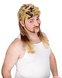 Blonde Mullet Adult Wig