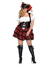 Adult Shipwreck Pirate Plus Size Costume
