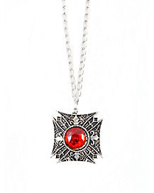 Classic Red Stone Necklace