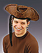Distressed Faux Leather Pirate Hat