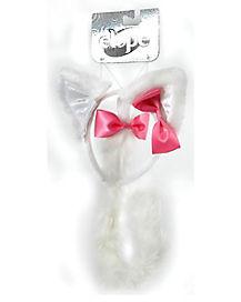 White Kitty Cat Costume Kit