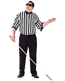 Adult Blind Referee Plus Size Costume