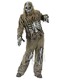 Teen Zombie Skeleton Costume
