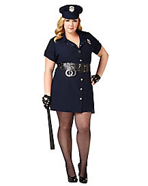 In the Line of Duty Adult Womens Plus Cop Costume