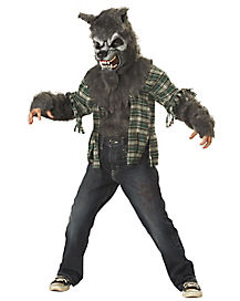 Howling at the Moon Gray Wolf Child Costume