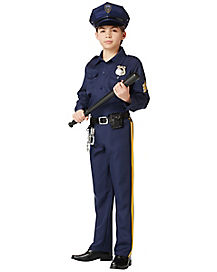 Kids Police Man Costume- Deluxe