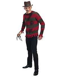 Adult Freddy Krueger Costume Deluxe- Nightmare on Elm Street