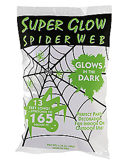 Glow in the Dark Spiderweb