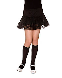 Kids Black Knee High Tights